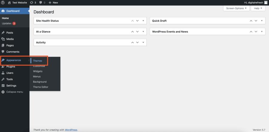 Adding a the Divi Theme to WordPress