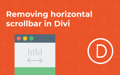 Removing the horizontal scrollbar when using the Divi theme